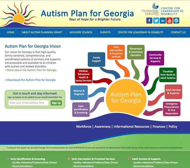 Autism Plan for Georgia