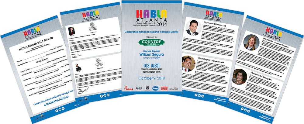 HABLA Awards 16 Page Program