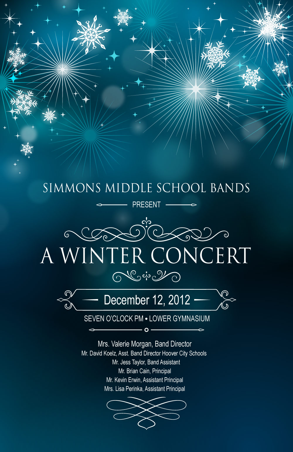 Simmons Band Winter Concert Program – Concert Program