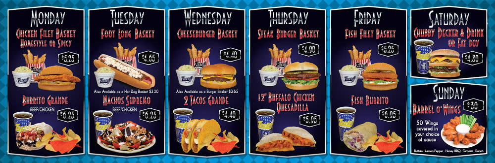 Zesto Daily Specials Board